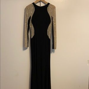 Xscape Rhinestone Illusion Studded Gown 8